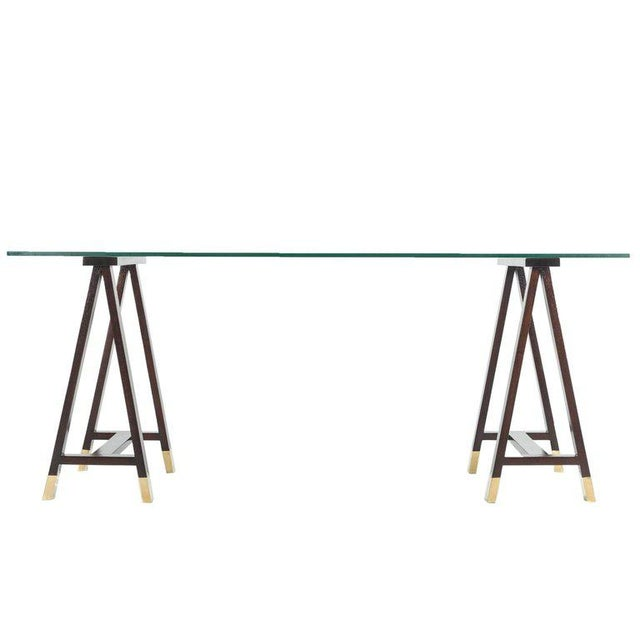 Gold Arturo Pani Trestle Table For Sale - Image 8 of 8