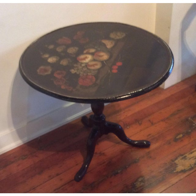 18th Century Dutch Tilt Top Table With Still Life - Image 9 of 11
