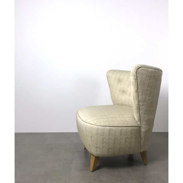 1960s Vintage Gilbert Rohde Style Wingback Slipper Lounge Chair For Sale - Image 5 of 6