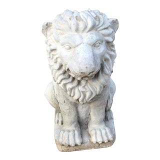 Vintage Concrete Lion Garden Ornament For Sale