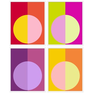 "XL ""Hot Forevers"" Print by Stephanie Henderson, 50"" X 62"" - Set of 4"