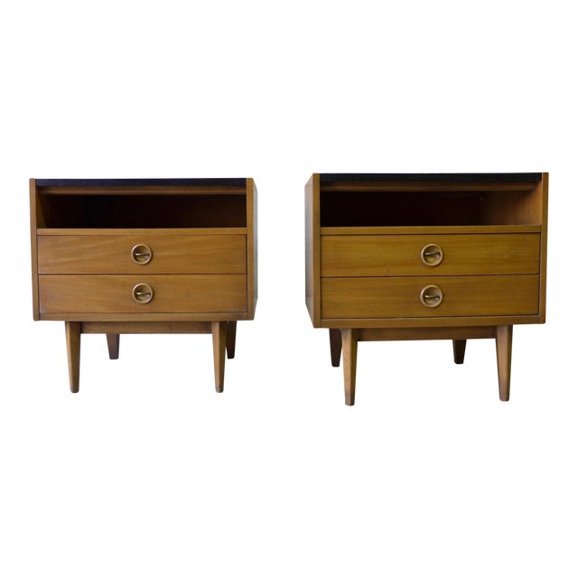 American of Martinsville Mid-Century Walnut Nightstands - A Pair - Image 1 of 7