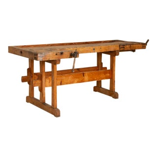 Antique Large Carpenter's Workbench For Sale