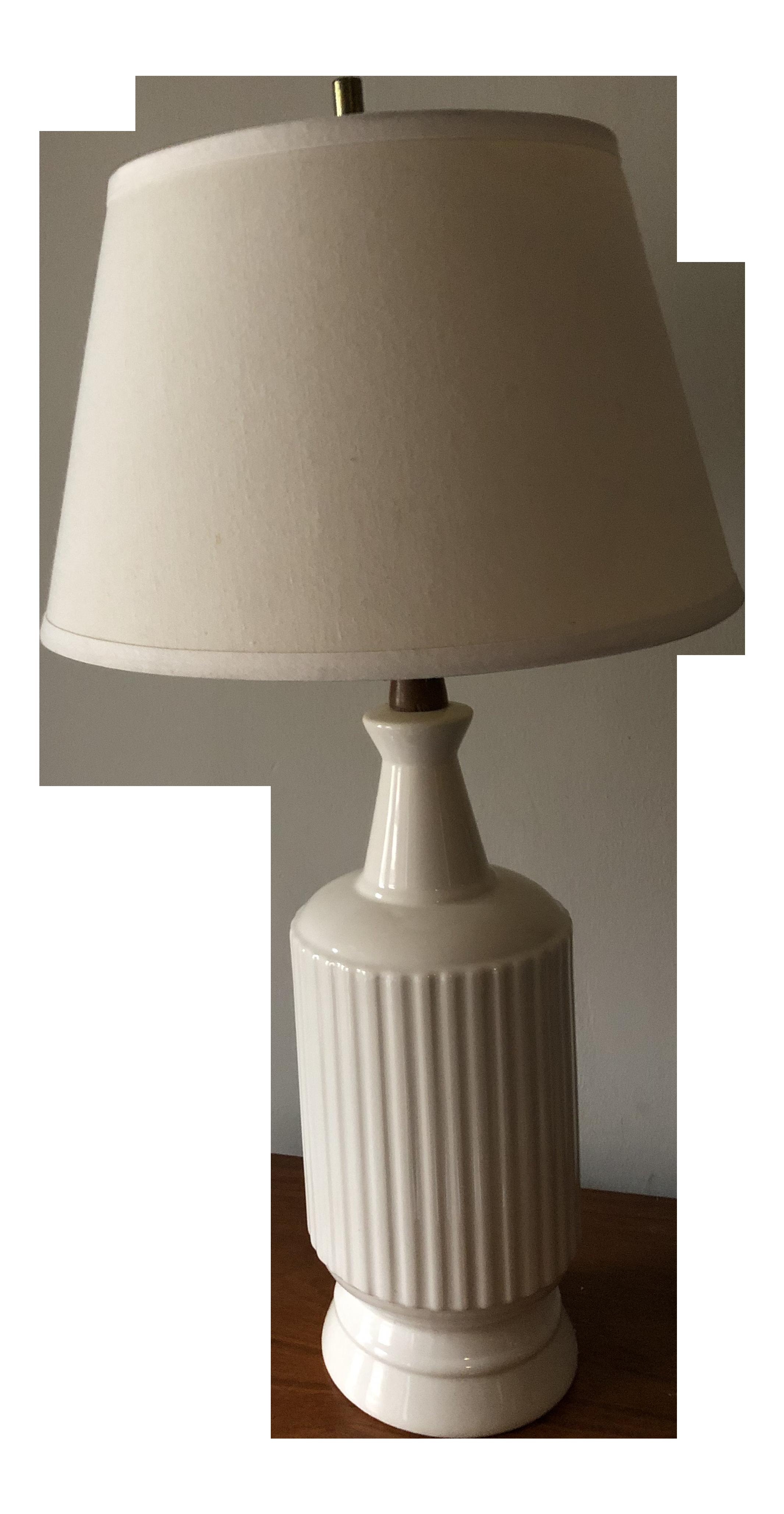 Danish Mid Century Modern Ceramic And Teak Table Lamp Chairish