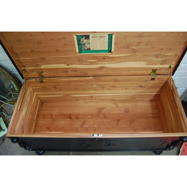 Antique 1920's Black Cedar Chest by Roos - Image 8 of 9