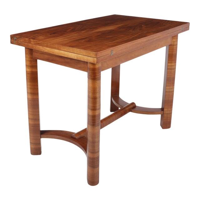 1930s Art Deco Walnut Folding Tea Table For Sale