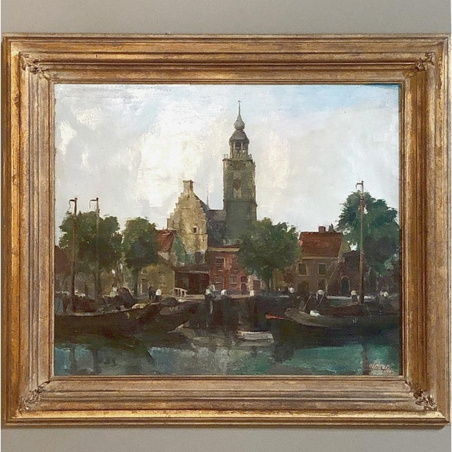 Mid-Century Framed Original Painting on Canvas by Joseph Tilleux (1896-1978) For Sale - Image 10 of 10