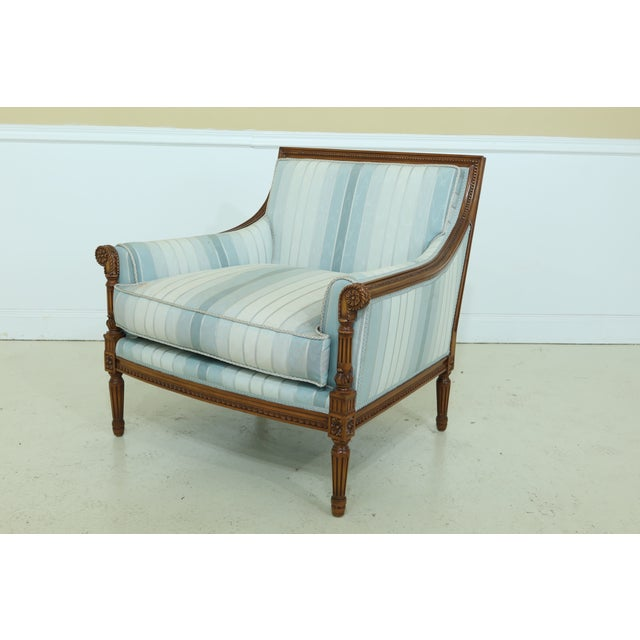 Nancy Corzine French Louis XVI Style Upholstered Chair For Sale - Image 12 of 12