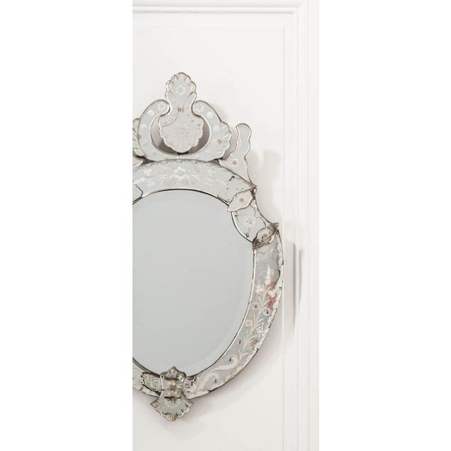 Transparent Late 19th Century Venetian Shield Form Wall Mirror For Sale - Image 8 of 10