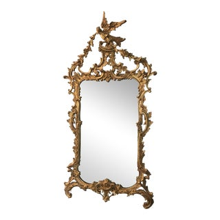 Belle Époque Gold Carved Wood Mirror For Sale