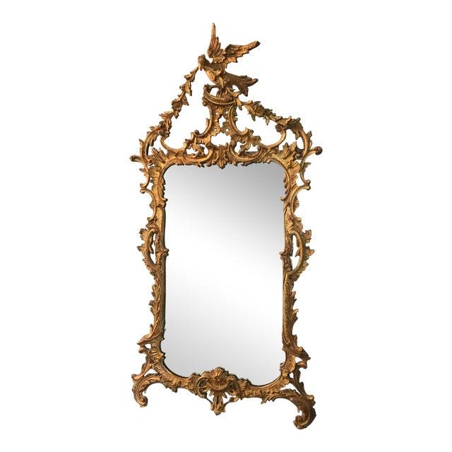 Belle Époque Gold Carved Wood Mirror For Sale
