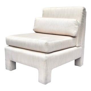 1980's Milo Baughman Slipper Lounge Chair For Sale