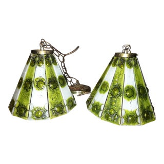 Higgins Mid-Century Modern Hanging Chandeliers- A Pair