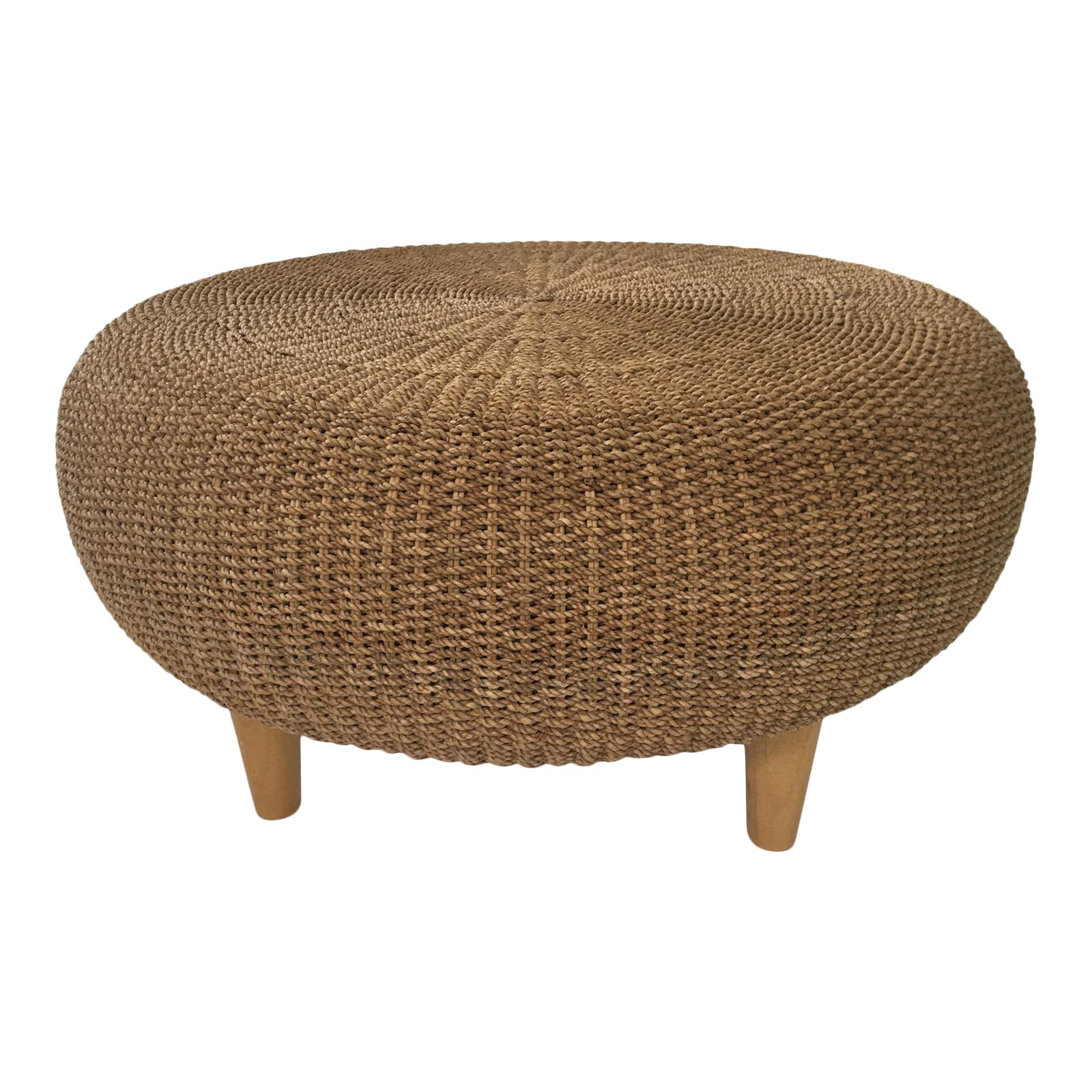 Incredible Round Woven Rattan Wicker Ottoman Coffee Table Pabps2019 Chair Design Images Pabps2019Com