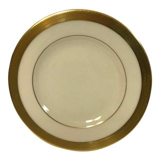 Lenox Lowell Gold Stamped Bread Plate For Sale