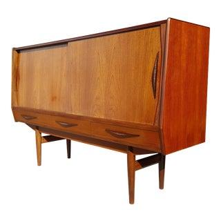 Danish Mid-Century Modern Teak Sideboard / Highboard / Credenza