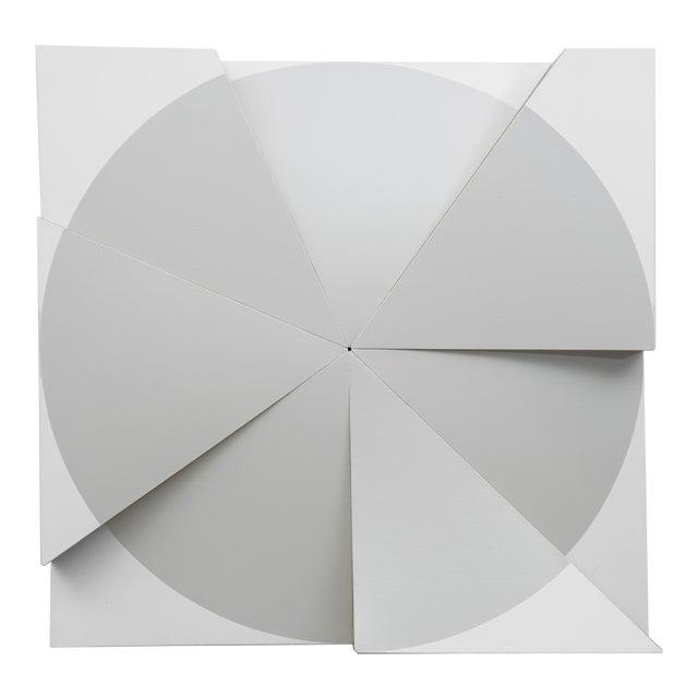 Jan Maarten Voskuil 'Roundtrip Pointless Grey Pearl' Acrylics on Linen, 2018 For Sale