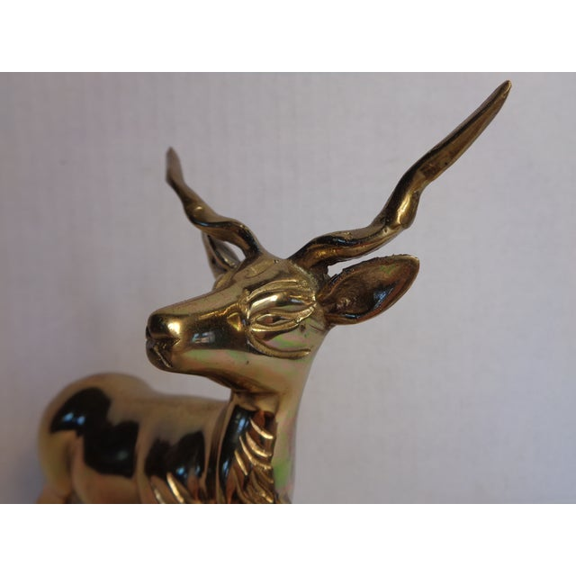 Brass Kudu Figurine - Image 4 of 5