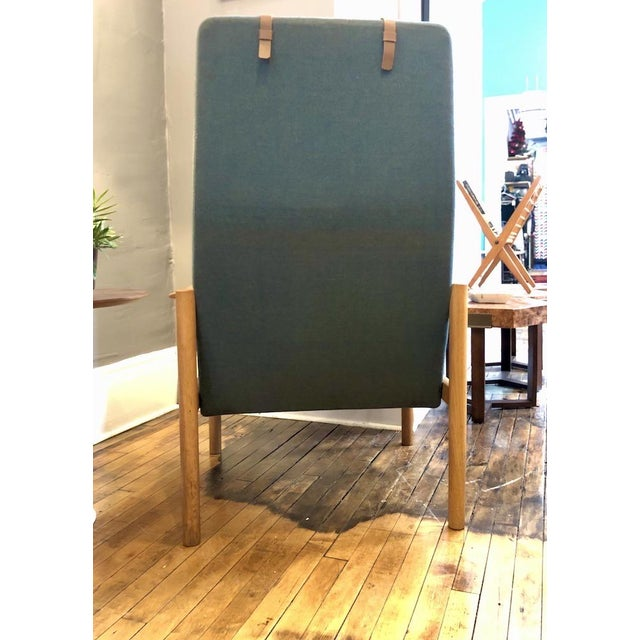 Vintage Swedish Modern High-Back Lounge Chair For Sale - Image 4 of 13