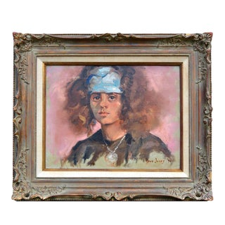 Young Girl With Scarf Portrait For Sale