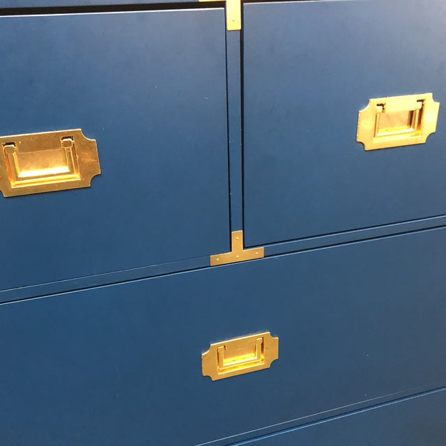 Blue Campaign Style Chest of Drawers - Image 4 of 7