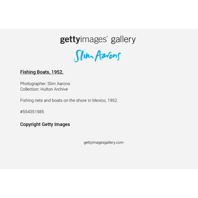 """Not Yet Made - Made To Order Slim Aarons, """"Fishing Boats,"""" January 1, 1952 Getty Images Gallery Framed Art Print For Sale - Image 5 of 5"""