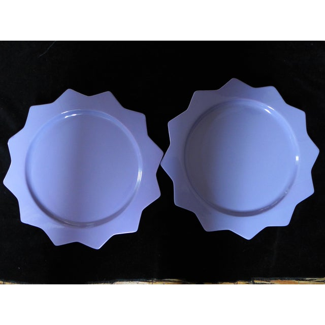 Purple Ceramic Serving Platters - A Pair - Image 3 of 6