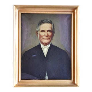 19th Century Antique Portrait of a Gentleman Painting For Sale