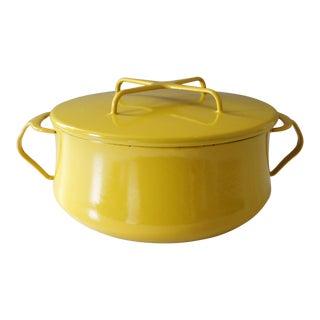 Dansk Kobenstyle Yellow Enamel Dutch Oven Pot Large Jens Quistgaard Danish Modern