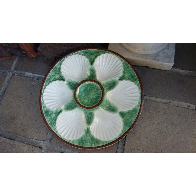 Majolica French Oyster Plates - Set of 6 - Image 5 of 5