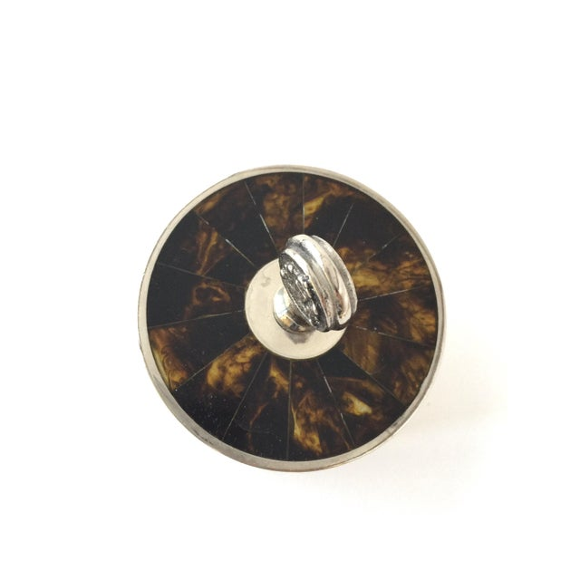 Contemporary Traditional Ralph Lauren Tortoise Shell Trinket Holder Jewelry Box For Sale - Image 3 of 10