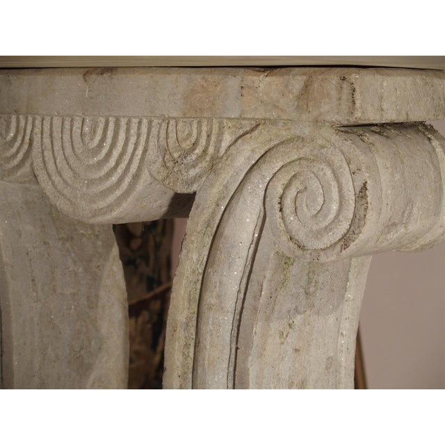 Antique Carved White Marble Console Table from France, 19th Century For Sale - Image 9 of 13