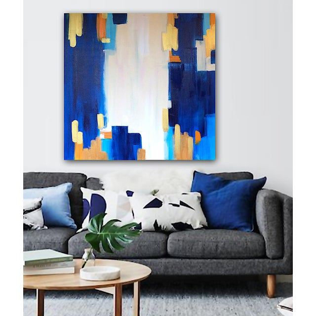 "Abstract Painting ""LAGUNA""by Linnea Heide - Image 2 of 6"