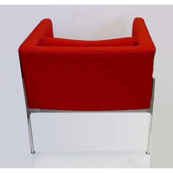 Mid-Century Modern Vintage Chrome Side Chair by Stendig For Sale - Image 3 of 5