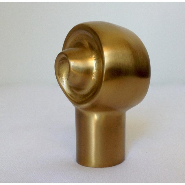 German Custom Brushed Bronze Infinity Swirl Finial For Sale - Image 4 of 8