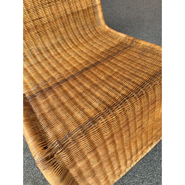 Pair of Rattan Lounge Chair P3 by Tito Agnoli. Italy, 1960s For Sale - Image 9 of 12