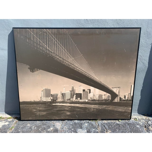 Mid-Century Modern 1970s Lower Manhattan Cityscape Photograph, Framed For Sale - Image 3 of 11