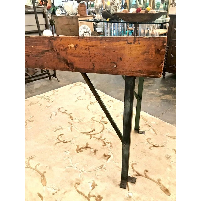 20th Century Industrial Workbench or Console For Sale - Image 11 of 12