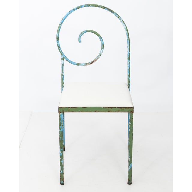 20th C. Scroll Back Garden Chairs - Set of 4 For Sale In New York - Image 6 of 11