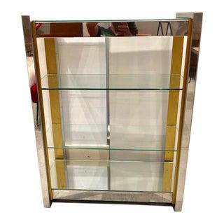 1970s Mid-Century Modern Chrome Book Shelf For Sale