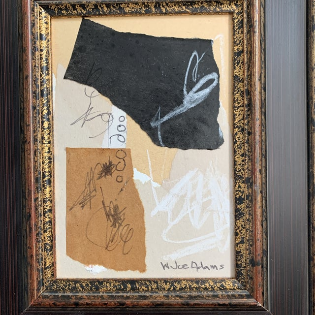 Small Original Joe Adams Collage. Frame is vintage. Great piece to add to any collection!