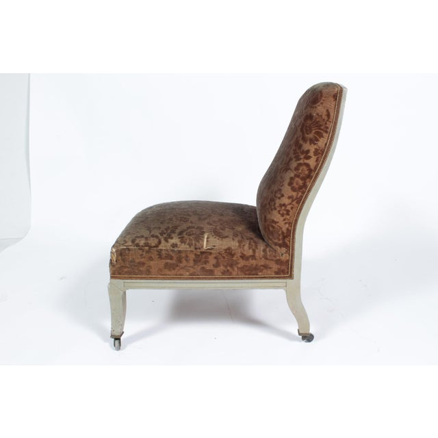 Floral Upholstered Low Side Chair Napoleon III For Sale In Nashville - Image 6 of 11