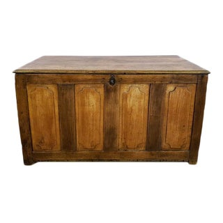 Antique French Oak Trunk Coffer Dowry Chest
