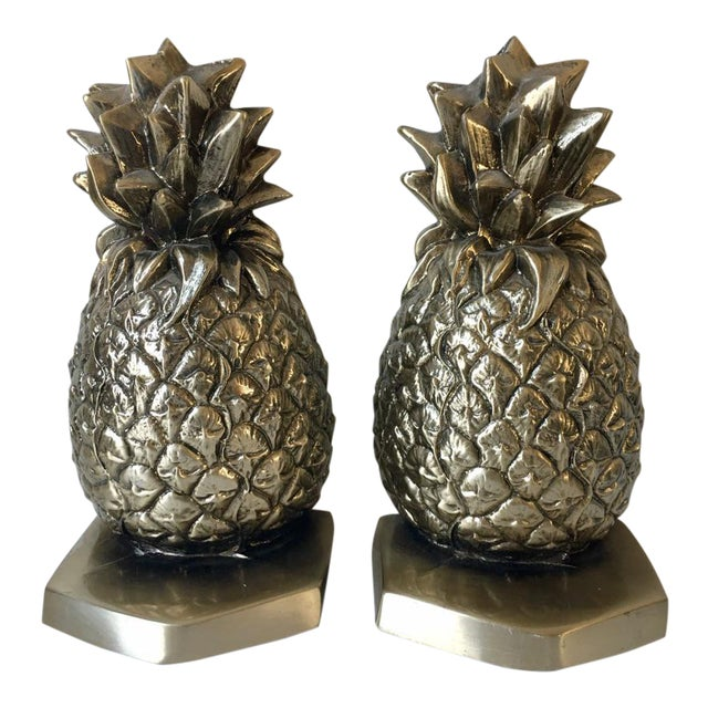 Palm Beach Regency Pineapple Bookends - a Pair - Image 1 of 4