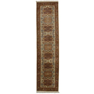 RugsinDallas Hand Knotted Persian Style Runner - 2′6″ × 10′1″ For Sale