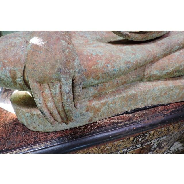 Late 19th Century Cast Bronze Sukhothai Buddha For Sale - Image 5 of 7