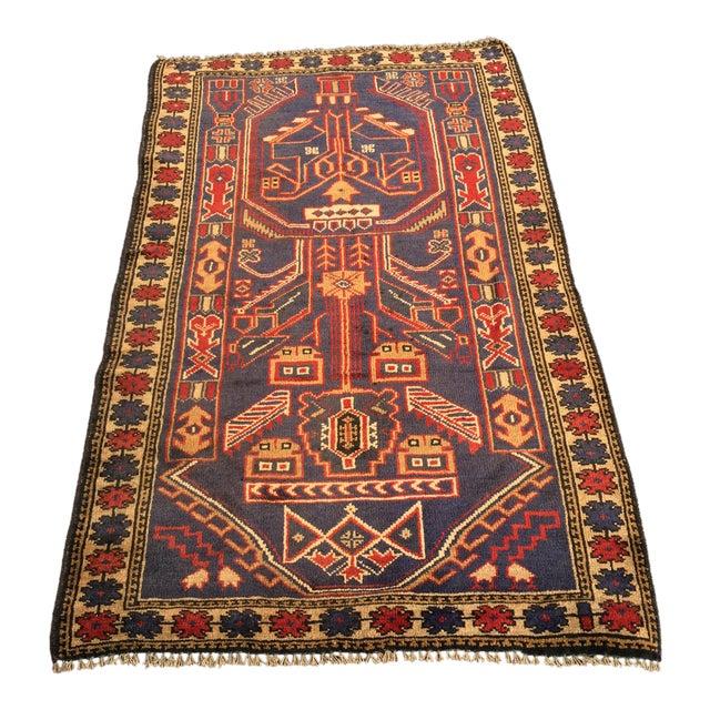 "Vintage Persian Baluchi Rug - 2'10""x4'9"" - Image 1 of 10"