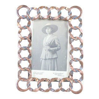 English Victorian Chain Photo Frame For Sale
