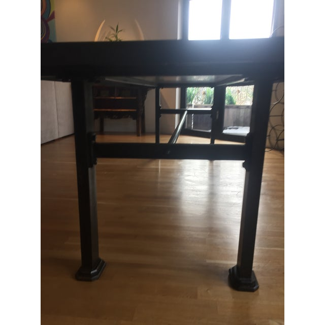 Industrial Steel & Cast Iron Dining Table - Image 3 of 5