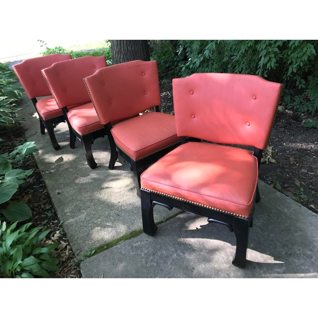 Ming Style Low Slung Game Chairs- Set of 4 For Sale - Image 10 of 10